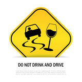 Do not drink and drive Royalty Free Stock Photography
