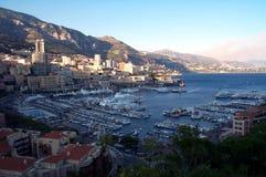 Docas de Monaco de acima Foto de Stock