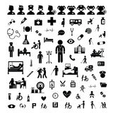 Doctor icon and hospital Stock Images