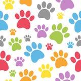Dog Footprints Seamless Pattern Royalty Free Stock Image