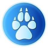Dog paw print Royalty Free Stock Image