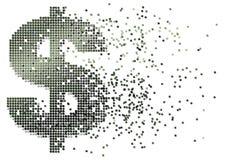 Dollar cash flow Stock Image