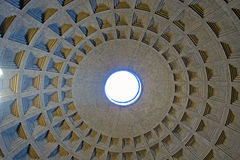 Dome of Pantheon rome Stock Photo