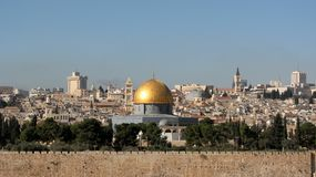 Dome of the Rock on Temple Mount, Jerusalem, Israel Royalty Free Stock Photography