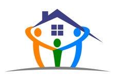 domowy opieka logo Obrazy Stock