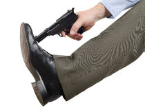 Don't shoot yourself in the foot Royalty Free Stock Photo