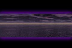Donkere landschapsbanner Royalty-vrije Stock Foto