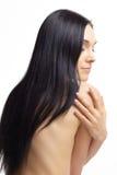 Donna nuda con capelli scuri Fotografie Stock
