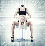 Donna sexy del cyborg Immagini Stock