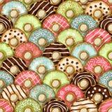 Donuts seamless pattern Stock Photos
