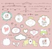 Doodle  labels, badges,frame,border,decor element Royalty Free Stock Photo