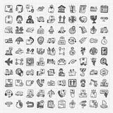 Doodle logistics icons set Royalty Free Stock Photo