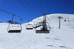 Dos Rond, Winter landscape in the ski resort of La Plagne, France Royalty Free Stock Photos