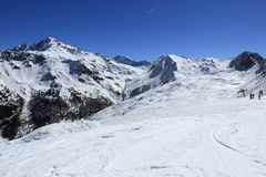 Dos Rond, Winter landscape in the ski resort of La Plagne, France Royalty Free Stock Image