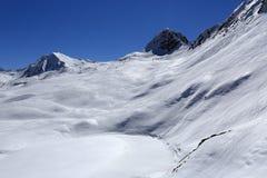 Dos Rond, Winter landscape in the ski resort of La Plagne, France Stock Images