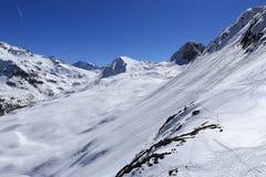 Dos Rond, Winter landscape in the ski resort of La Plagne, France Royalty Free Stock Photo