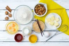 Dough recipe ingredients Stock Photo