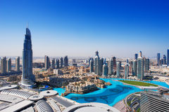 Downtown Dubai is a popular place for shopping Stock Photos