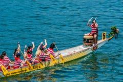 Drachebootsfestival-Rennen-Stanley-Strand Hong Kong Lizenzfreies Stockbild