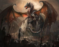 Dragon castle Royalty Free Stock Photography