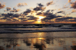 Dramatic California Pacific Sunset Stock Images