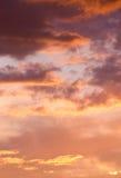 Dramatic cloudy sky at sunset Royalty Free Stock Photos