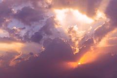 Dramatic Evening Sky Stock Photos