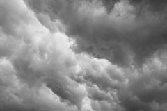 Dramatic grey clouds Royalty Free Stock Image