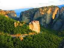 Dramatic landscape at Meteora, Greece Royalty Free Stock Photo