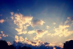 Dramatic sky Royalty Free Stock Photos