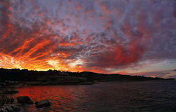 Dramatic sky, Sunset Stock Image