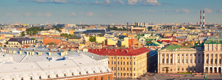 Draufsicht der europäischen Stadt Stockbild