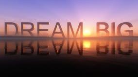 Dream Big On The Epic Lake Sunset Horizon Stock Images