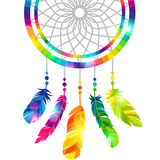 Dream catcher with abstract bright transparent Royalty Free Stock Photos