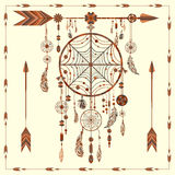 Dream Catcher arrows, beads, ethnic Indian Royalty Free Stock Photos