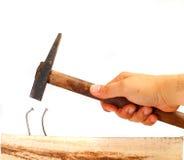 Drijfbent nail Stock Foto