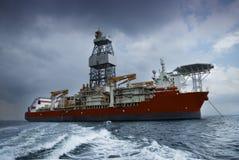 DrillShip Royaltyfria Bilder