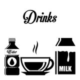 Drink design Royalty Free Stock Photography