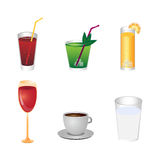 Drink icons Royalty Free Stock Photo