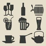 Drink icons set Stock Image