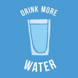 Drink more water Stock Image