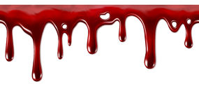 Dripping blood seamless repeatable Royalty Free Stock Photo