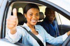 Driver thumb up Stock Photos