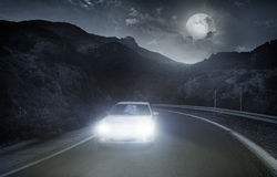 Driving on an asphalt road Royalty Free Stock Photography