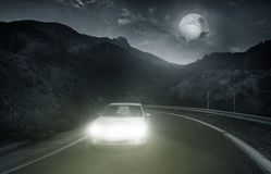 Driving on an asphalt road Stock Images