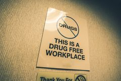 Drug Free Workplace Royalty Free Stock Photo