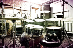 Drums in the studio. Stock Photo