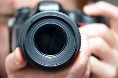 DSLR camera lens Stock Photos