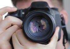 DSLR camera lens shutter Royalty Free Stock Images