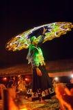 Dubai a man with a skirt dances Royalty Free Stock Image